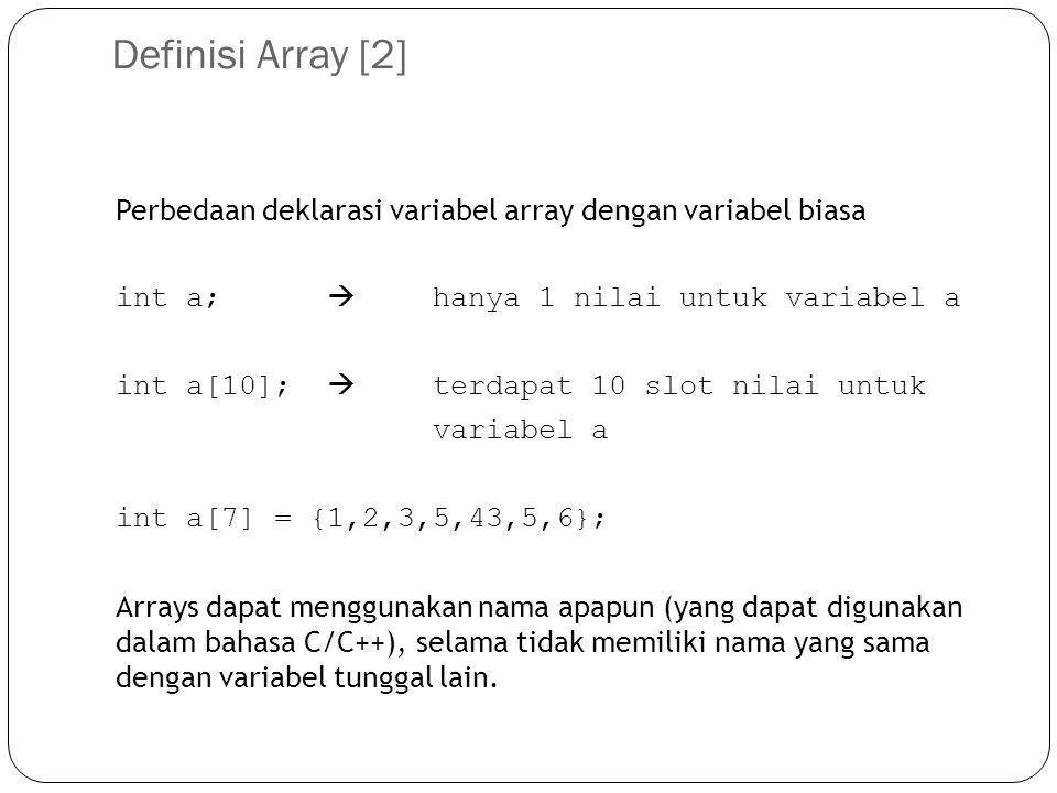Definisi Array [2]